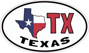 5in X 3in Oval Tx Texas Sticker Vinyl Car Truck Bumper Decal Cup Stickers Bumper Decals Texas Stickers Vinyl Sticker