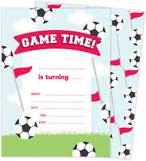 Amazon Com Soccer Design Tarjetas De Invitacion De Cumpleanos