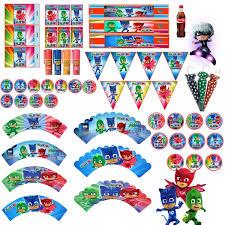 Kit Imprimible Pj Mask Heroes En Pijama Tarjetas Cumple 2kit