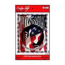 Pow Mia Barbed Wire Vinyl Decal