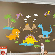 Huge Set Dino Dinosaurs Baby Nursery Kids Playroom Sticker Decor Styleywalls On Artfire