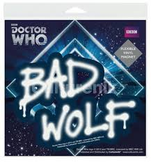 Doctor Who Bad Wolf Graffiti Flexible Vinyl Car Magnet Decal Starbase Atlanta
