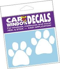 Imagine This Company Double Paw Car Window Decal Chewy Com