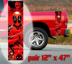 Home Decor Deadpool Window Door Car Sticker Laptop Auto Truck 3 Colors Vinyl Decal Sticker Thecorner Mx