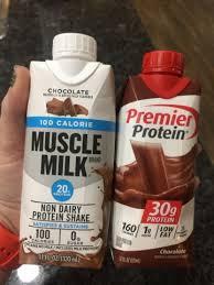 muscle milk vs premier protein