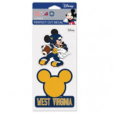 Wvu Mickey Mouse Decal Set