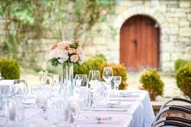 garden party wedding stock photo