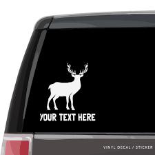Deer Silhouette Car Window Decal Vinyl Sticker Custom Gifts Etc