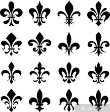Classic Fleur De Lys Symbol Set Wall Mural Pixers We Live To Change