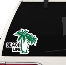 Amazon Com Beach Life Decal Car Truck Window Sticker Outdoors Salt Lake Life Arts Crafts Sewing