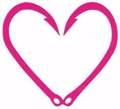Hot Pink Fish Hook Heart 5 Vinyl Decal Truck Car Laptop Cellphone Ebay