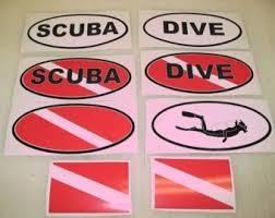 Black Scuba Dive Flag Oval Sticker Decal Lot 4 Boat Car Window Truck Tank Other Scuba Snorkeling