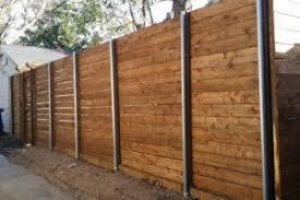 Horizontal Fence Metal Posts Wood Fence Design Horizontal Fence Metal Fence Posts