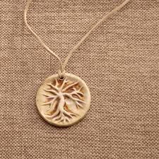 tree of life ceramic pendant
