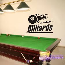 Billiards Sticker Snooker Decal Posters Vinyl Wall Decals Decor Room Decoration Mural Billiards Wall Decal Wall Stickers Aliexpress