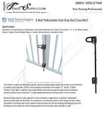 Dandd Technologies Q Bolt Padlockable Gate Drop Rod