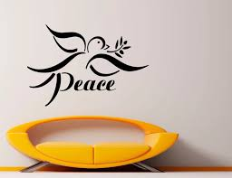 Peace Bird Wall Decal Removable Interior No War Olive Branch Wall Stickers Vinyl Quotes Peace Houseware Art Mural Decor Syy652 Bird Wall Decal Wall Decalsdecorative Decorative Aliexpress