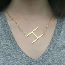 large letter necklace on wanelo