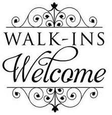 Walk Ins Welcome Sign Window Decal Hair Salon Decor Hair Salon Salon Signs