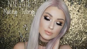 nye 2016 makeup tutorial glitter cut
