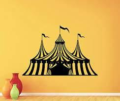 Amazon Com Circus Wall Decal Circus Tent Logo Clown Vinyl Sticker Jester Juggler Carnival Positive Decor Nursery Wall Decor Kids Room Wall Art Design Bedroom Wall Decor Mural 263xxx Kitchen Dining