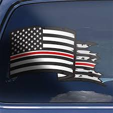 Amazon Com Thin Red Line Nurse Rn Cna Lpn Cns Np Distressed American Flag Window Decal Sticker Gift Handmade
