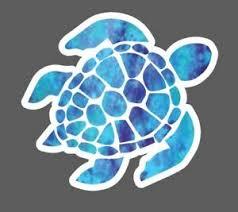 Blue Watercolor Sea Turtle Decal Sea Turtle Decal Sticker Hydroflask Laptop Ebay