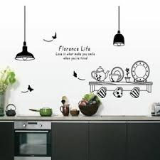 Kitchen Home Decor Wall Decal Dining Room Decoration Removable Wall Sticker Ebay