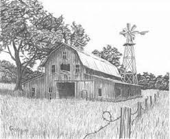 Later When You Ve Learned To Use The Different Tools Of Any Woodburning Pattern That Shows Shading Is Not For Py Barn Drawing Landscape Drawings Barn Painting