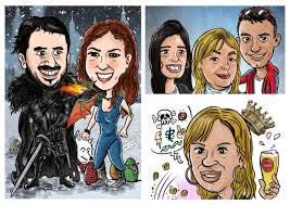 draw a outstanding caricature by santijury