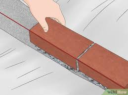 how to build a brick wall with