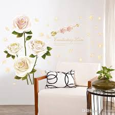 Large Pink Peony Wall Decals Vinyl Lover Flower Wall Sticker Murals For Living Room Bedroom Decoration Owl Wall Decals Owl Wall Stickers From Carrierxia 4 16 Dhgate Com