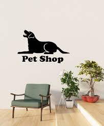 Vinyl Wall Decal Pet Shop Grooming Dog Silhouette Animal Veterinary Cl Wallstickers4you
