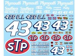 43 Stp Richard Petty 1 10 Scale Powerslide Powerslide 1 10 Scale Vinyl