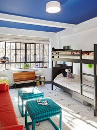 Multicolored Kids Room With Blue Ceiling Hgtv