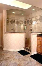 half wall shower glass corner showers