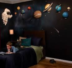 Beetling 3d Wall Designs Solar System Astronaut Set Space Themed Bedroom Outer Space Bedroom Space Themed Room