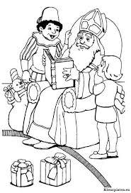 Sinterklaas Met Grote Rode Boek Kleurplaat