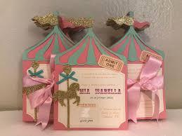 Carrousel Invitations Cumpleanos Del Carrusel Fiesta Carrusel