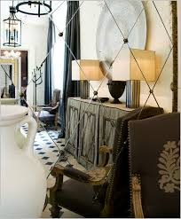 mirrored wall in diamond pattern jean