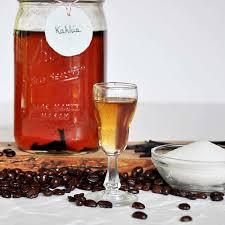 homemade coffee liqueur and kahlua