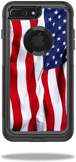 Amazon Com Mightyskins Protective Vinyl Skin Decal Compatible With Otterbox Commuter Iphone 7 Plus Case Wrap Cover Sticker Skins American Flag Computers Accessories