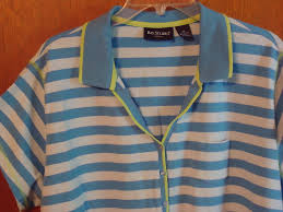 bay studio plus size 3 x blue striped