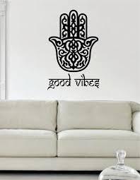 Good Vibes Hamsa Hand Version 2 Decal Sticker Wall Vinyl Boop Decals