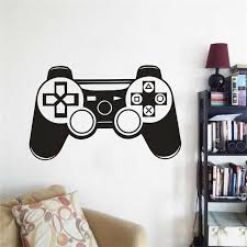 Game Controller Wall Decal Vinyl Boys Room Wall Poster Removable Playstation Controller Wall Sticker Home Decoration Ay1780 Wall Stickers Aliexpress