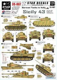 Srd35867 1 35 Star Decals German Tanks In Italy 4 Sicily 43