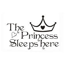 Shop The Princess Sleeps Here Wall Decal Overstock 32226066
