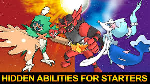 SPOILERS] Pokemon Sun and Moon: Hidden Abilities for Sun and Moon Starters  Revealed! - YouTube