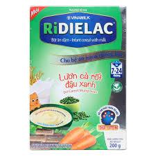Bột Ridielac Gold Lươn cà rốt đậu xanh HG 200g - CỬA HÀNG MẸ VÀ BÉ ...