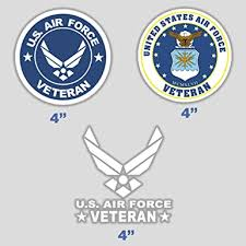 Amazon Com Set Of 3 Sticker Air Force Veteran Decal U S Army Vinyl Usaf Airman Vet Military For Car Truck Window Laptop 4 In Clothing